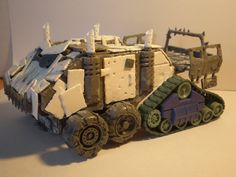 Behold, da Krump Kroozer in all of it's plasticard glory! It started it's life as a trukk made from a Rhino, but I loved the model to...