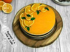 Tort Fanta cu suc de portocale pe masa Piece Of Cakes, Cheesecake, Sweets, Desserts, Decor, Kochen, Cheesecake Cake, Sweet Pastries, Tailgate Desserts
