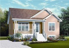 Small Country Style finally has a poster-child -- it's DD-3122. You're never going to find a more comfortable house plan with more style under 1,000 square feet. Check it out!