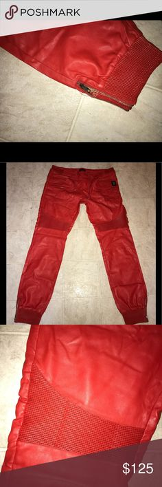 🔴RED🔴 Leather Forté Joggers 🔥 🔴RED🔴 Leather Forté Joggers 🔥 forté Pants