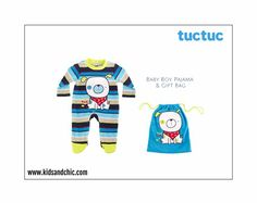 #TucTuc #babyboy #pajama with feet from the new Autumn/Winter 2015 - 2016 collection #NightPicnic. Comes with Tuc Tuc branded #bag. Perfect baby boy #gift and baby #showergift. #shopnow at www.kidsandchic.com/tuc-tuc-baby-boy-pajama-and-bag.html #baby #babygift #babyboutique #vestido #niño #fashionfromspain #castelldefels #barcelona #bebe #regalobebe #modabebe #babyfashion