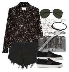 """""""Untitled #3383"""" by lily-tubman ❤ liked on Polyvore featuring Yves Saint Laurent, Nana Judy, Chanel, AllSaints, Forever 21, Marc by Marc Jacobs, David Yurman and Humble Chic"""