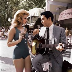 "~ Ann Margaret & Elvis ~ On The Set Of ""Viva Las Vegas"" (1964)"