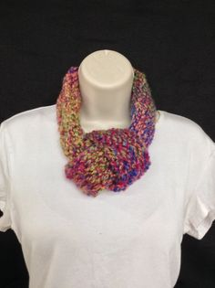 Hand made loom knitted adjustable infinity by knittedbydesign