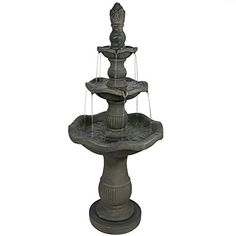 Sunnydaze Vivan 3Tier Garden Water Fountain 57 Inch Tall -- Be sure to check out this awesome product. Note: It's an affiliate link to Amazon