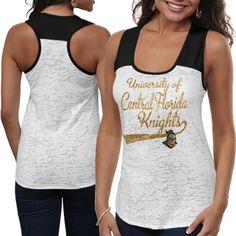 UCF Knights Ladies Burnout Raglan Tank Top - White