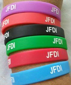 JFDI Silicone Wristbands