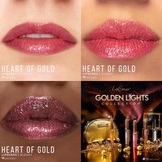 Heart of Gold LipSense by SeneGence is a Limited Edition lipcolor described as a .  Part of the Golden Lights Collection, click thru to purchase yours now.  #goldenlights #senegence #lipsense #heartofgold #goldlipstick