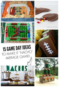 Tons of easy and yummy football watching treat ideas!