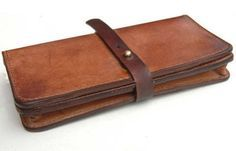 Wallets – Handmade leather wallet – a unique product by Nicoley on DaWanda