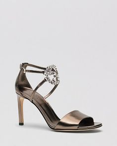 Gucci Open Toe Sandals - GG Sparkling High Heel | Bloomingdale's