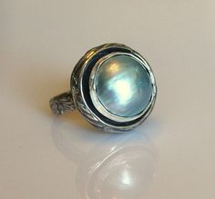 Tahitian pearl statement ring by MyFascinationStreet on Etsy