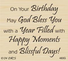 God Bless Birthday Greeting Rubber Stamp by DRS Designs Birthday Greetings For Boyfriend, Birthday Wishes For Brother, Happy Birthday Wishes Quotes, Birthday Quotes For Him, Happy Birthday Greetings, Birthday Blessings, Godly Birthday Wishes, Happy Blessed Birthday, Birthday Qoutes