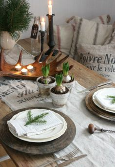 nature christmas table