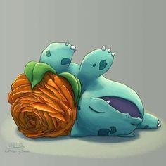 don't crush your flower, bulbasaur!