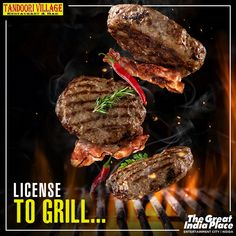 Tandoori is something that will always make you feel a little better about life. Bite into juicy succulence of flavorful tandoori dishes at Tandoori Village at The Great India Place, Noida. Juicy Burger Recipe, Burger Recipes, Hamburgers, Grilling, Treats, Dishes, Shop, Life, Juicy Hamburger Recipe