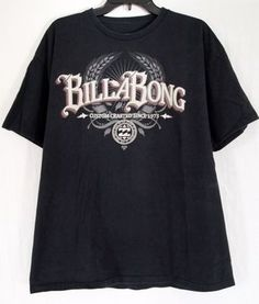 Men's Billabong Size XL X-Large Black Short Sleeve T-Shirt Tee Organic Cotton. On sale $8.99 with FREE SHIPPING
