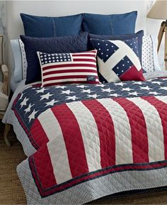 American flag quilt. I think so.