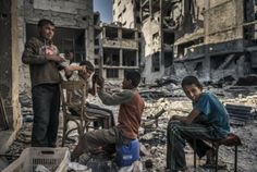 Sergey Pomomarev: A Lens on Syria At the Imperial War Museum, London until Sunday September 2017 Photography Exhibition, Documentary Photographers, London Photos, Modern Warfare, Syria, The Guardian, The Ordinary, Kids Playing, Documentaries