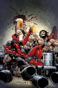 Deadpool and Hercules by Humberto Ramos and Edgar Delgado