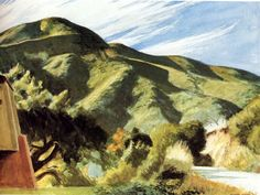 Edward Hopper (1882-1967) California Hills (1957) watercolour on paper 54,6 x 74,3 cm Hallmark Fine Art Collection, Kansas City, USA