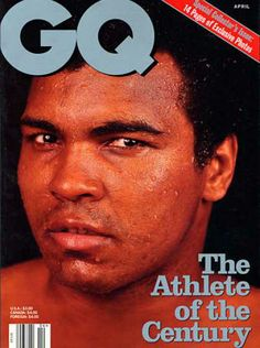 GQ April 1998 Muhammad Ali - Athlete of the Century Muhammad Ali, Gq Magazine Covers, Float Like A Butterfly, Hometown Heroes, Combat Sport, Sports Figures, American Comics, Dna, Black Men
