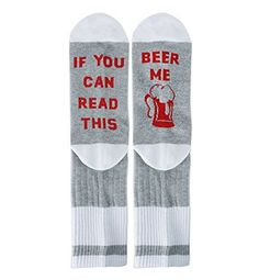 Zmart If You Can Read This Novelty Funny Saying Combed Cotton Crew Dress Beer Coffee Taco Wine Socks, Gag Gift for Men Women - Silly Gift Ideas Silly Gifts, Gag Gifts For Men, Gifts For Dad, Space Socks, Mens Novelty Socks, Food Socks, Beer Socks, H Words, Fit Women
