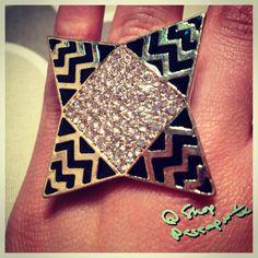 Chevron Ring from our Milan collection! http://www.ShopPassaporte.com  #Travel #Jewelry #Accessories #Ring #Chevron #Sparkle #Passaporte