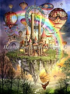 Tarot Town Two [MARCHETI1657] - $9.50 : Heaven And Earth Designs, cross stitch, cross stitch patterns, counted cross stitch, christmas stock...