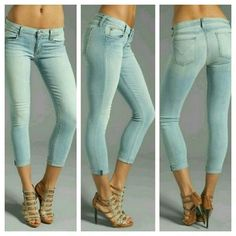 Hudson Harkin Cropped Cuffed Skinny Jeans BALE 31 BNWT HUDSON JEANS HARKIN CROPPED CUFFED SKINNY JEANS IN BALEARIC (BALE)  LIGHT BLUE WASH Size 31 MSRP $187 Lighter weight super soft cropped jeans with cuff Material contents 92.5 cotton /5% polyester /2.5 Lycra Measurements are avail upon request  Reasonable Offers welcome pls use offer button Thank you Hudson Jeans Jeans Ankle & Cropped