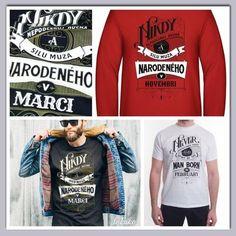 Pánsky motív - nikdy nepodceňuj muža - k narodeninám, luxusné tričko Textiles, Long Sleeve, Sleeves, Mens Tops, T Shirt, Fashion, Supreme T Shirt, Moda, Tee Shirt