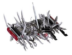 Funny 'cause it's real: 85 tool Swiss Army Knife.