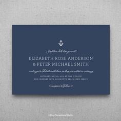 KATE - Nautical Wedding Invitation | The Occasional Hello