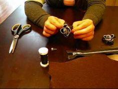 Tutorial: How to make a zipper flower