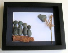 Unique Family Gift - Customized Family Art Work - Stone Art - Stone Family of Four - Family Gifts on Etsy, $85.00 CAD