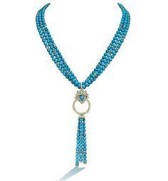 Lotus Turquoise Necklace  Asprey - London