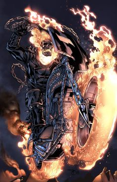 The Cartoons & Comics of Ander Zarate - Digital Art - Fribly - Ghost Rider Comic Book Characters, Marvel Characters, Comic Character, Comic Books Art, Comic Art, Ghost Rider Johnny Blaze, Ghost Rider Marvel, Marvel Comics Art, Marvel Heroes