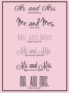 Free Wedding Fonts for your #DIY #wedding #invitations.