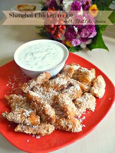 Shanghai Chicken with Tzatziki Sauce by The Seaman Mom