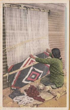 Woman Navajo Blanket Weaver c1930