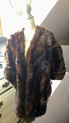 Fur Shawl Caplet Hollywood Mad Men Style Kriegel Furrier Jersey City GLAMOUROUS! #KriegelFurrier