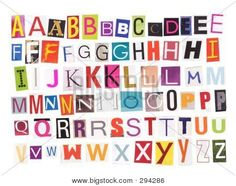 Alphabet letters to cut out illustration of individual letters cut printable alphabet cut outs alphabet magazine cutouts stock photo stock images bigstock spiritdancerdesigns Choice Image
