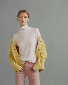 """Fitted longsleeve turtleneck 100% Pima cotton Slim fit 25"""" Body length PE 100% COTTON Imported"""