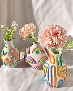 Diy Clay, Clay Crafts, Diy And Crafts, Arts And Crafts, Pastel Room, Clay Art Projects, Ideias Diy, Cute Room Decor, Diy Décoration