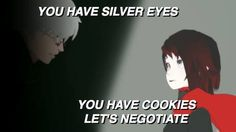 RWBY Ruby Ozpin cookies silver eyes