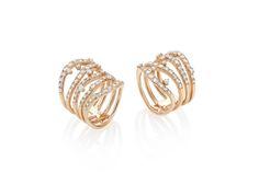 #BelBel #rings in 18kt rose gold and white #diamonds. #CASATO - www.casatogioielli.com