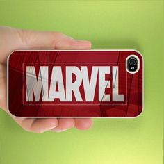 Marvel for iPhone 4/4S, iPhone 5, Black Case, White Case, IPhone 5 Case, IPhone 4/4S Case, Hard Cover Plastic. $16.99, via Etsy.