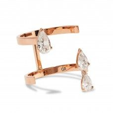 Fashion Investment Pieces That Are Totally Worth the Money: Rose Gold Repossi Ring with Tear Drop Crystals | coveteur.com