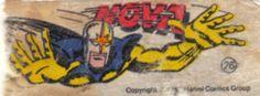 Nova - Essa é uma coleção de 36 figurinhas dos Super-Heróis da Marvel, do chiclete Ping-Pong, lançadas em 1979, as quais colecionei todas e colei na cômoda do quarto, como todo mundo fez.