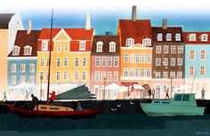 Copenhagen, Denmark - artist Jamey Christoph.  Love the bright style!